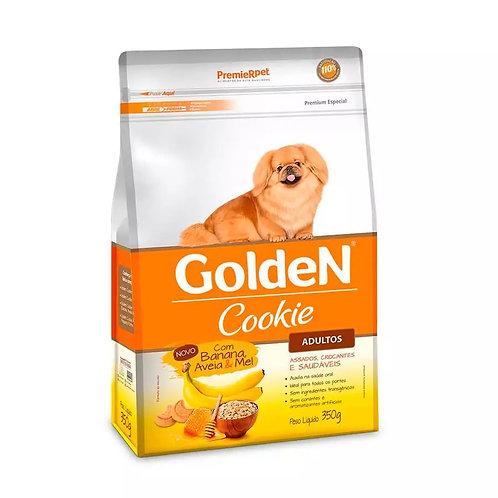 Biscoito Golden Cookie Cães Adultos Sabor Banana Aveia e Mel 350gr