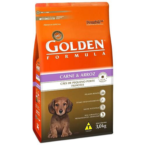 Ração Cachorro Filhote Raças Pequenas Golden Fórmula Carne e Arroz