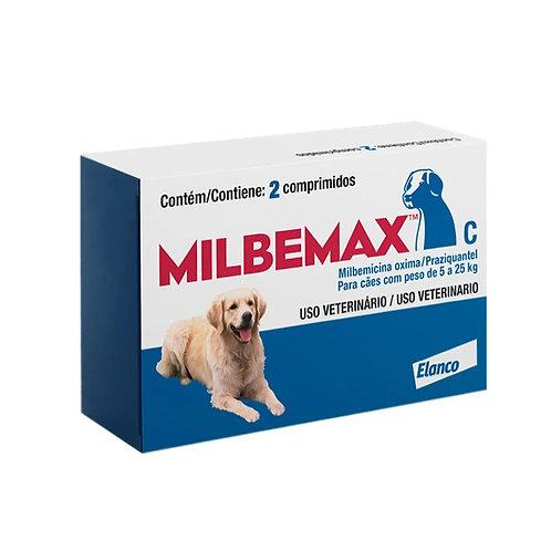 Vermífugo Milbemax C Cães 5 a 25kg Elanco (295407)