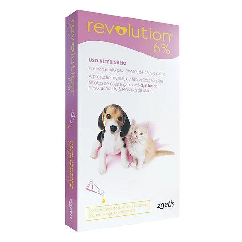 Antipulgas Revolution 6% 15mg Cães e Gatos 2,5kg (276784)