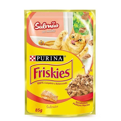 Ração Úmida Nestlé Purina Friskies Salmão ao Molho Gatos Adultos 85g (309292)