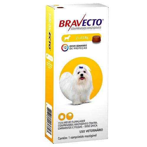Antipulgas Bravecto Oral 112,5mg Cães até 4,5kg (255874)
