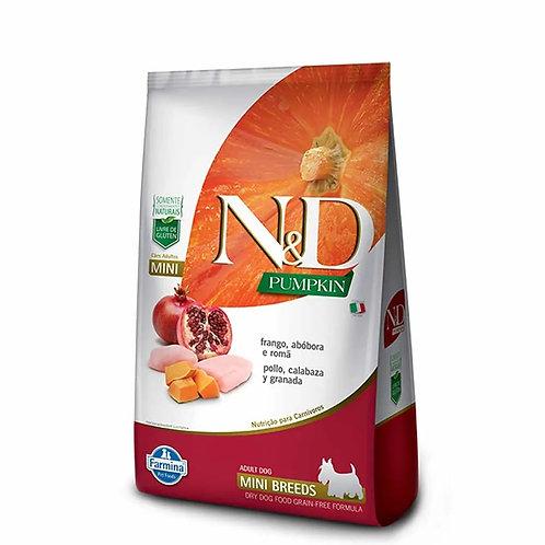 Ração N&D Pumpkin Cães Adulto Raças Mini Frango