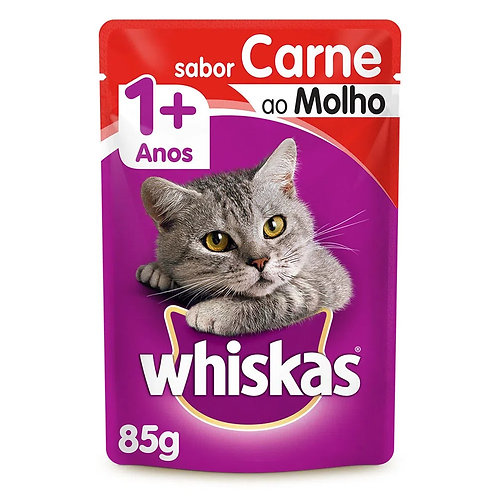 Alimento Úmido Whiskas Pedaços Carne ao Molho