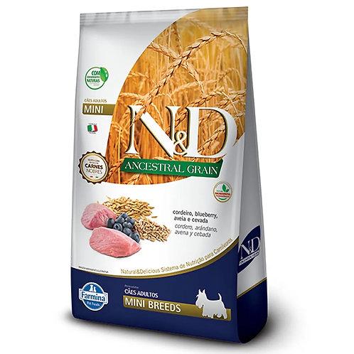 Ração N&D Ancestral Grain Cães Adultos Mini Cordeiro