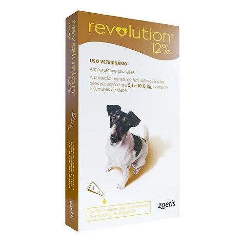 Antipulgas Revolution 12% 60mg Cães 5,1 a 10kg