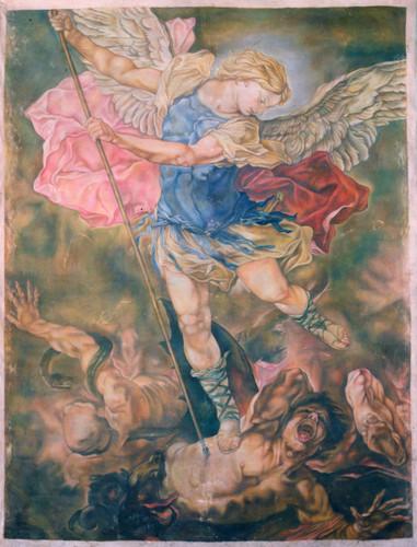 Copy of St Michael Vanquishing the Devil : 275cm x 213cm