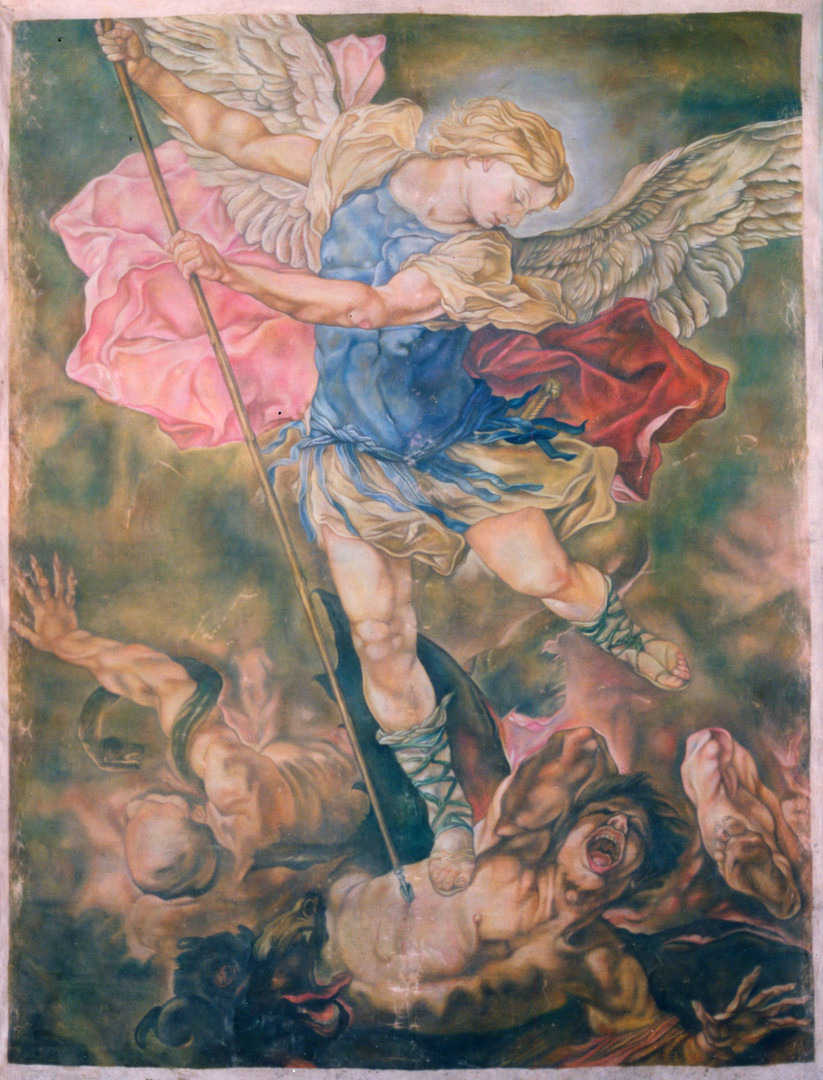 Copy of St Michael Vanquishing the Devil : 275cm x 213cm