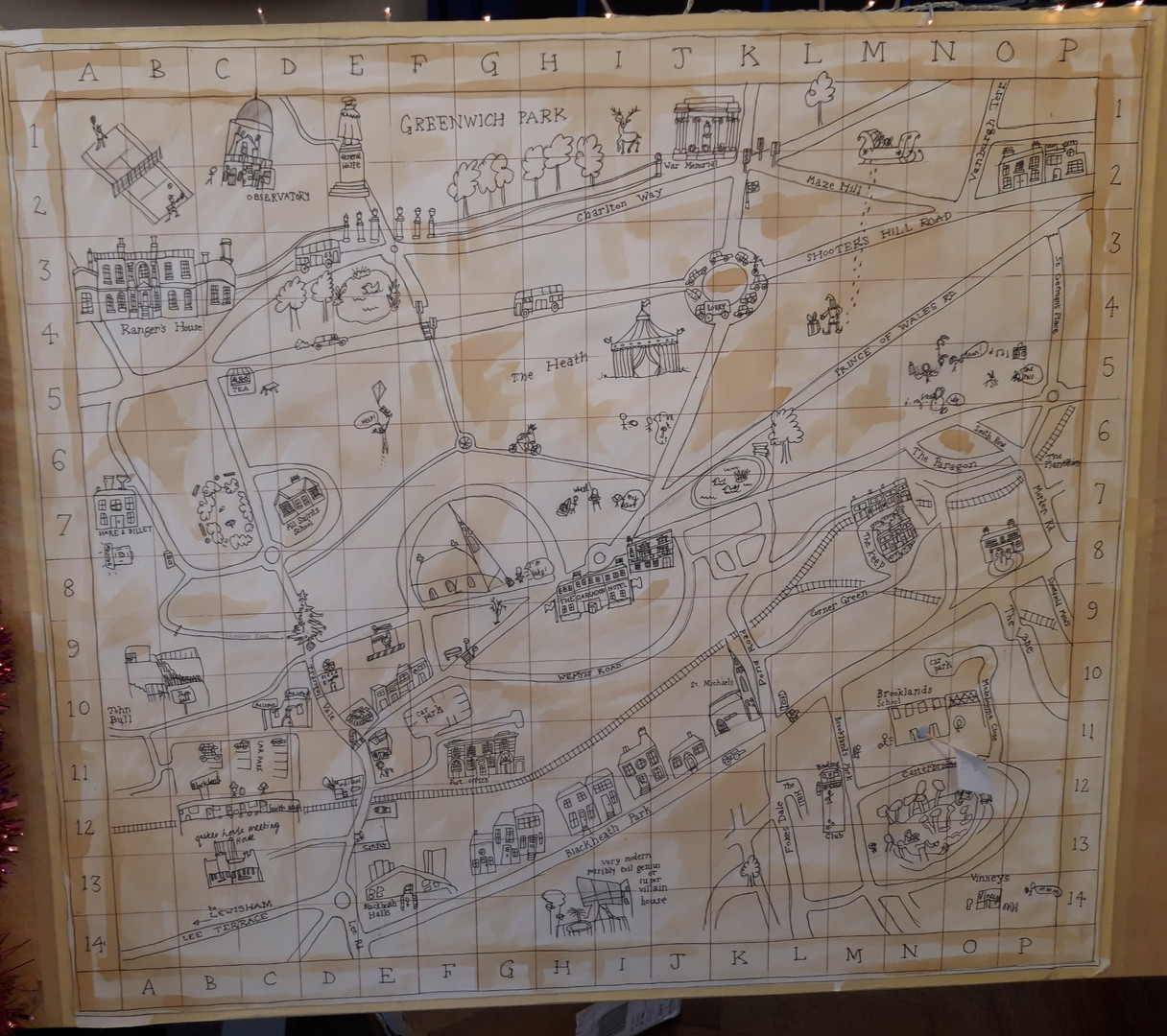 Treasure Hunt Map : 153cm x 153cm