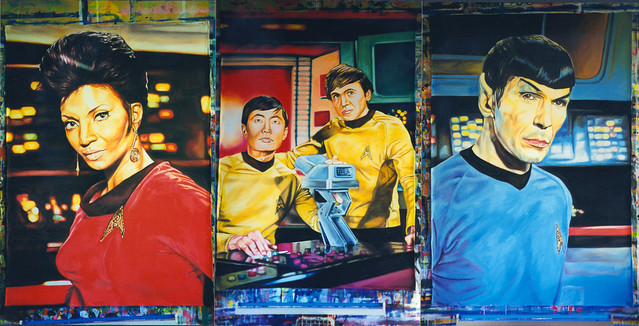 3 Star Trek backdrops : UV paint : 244 cm x 183 cm
