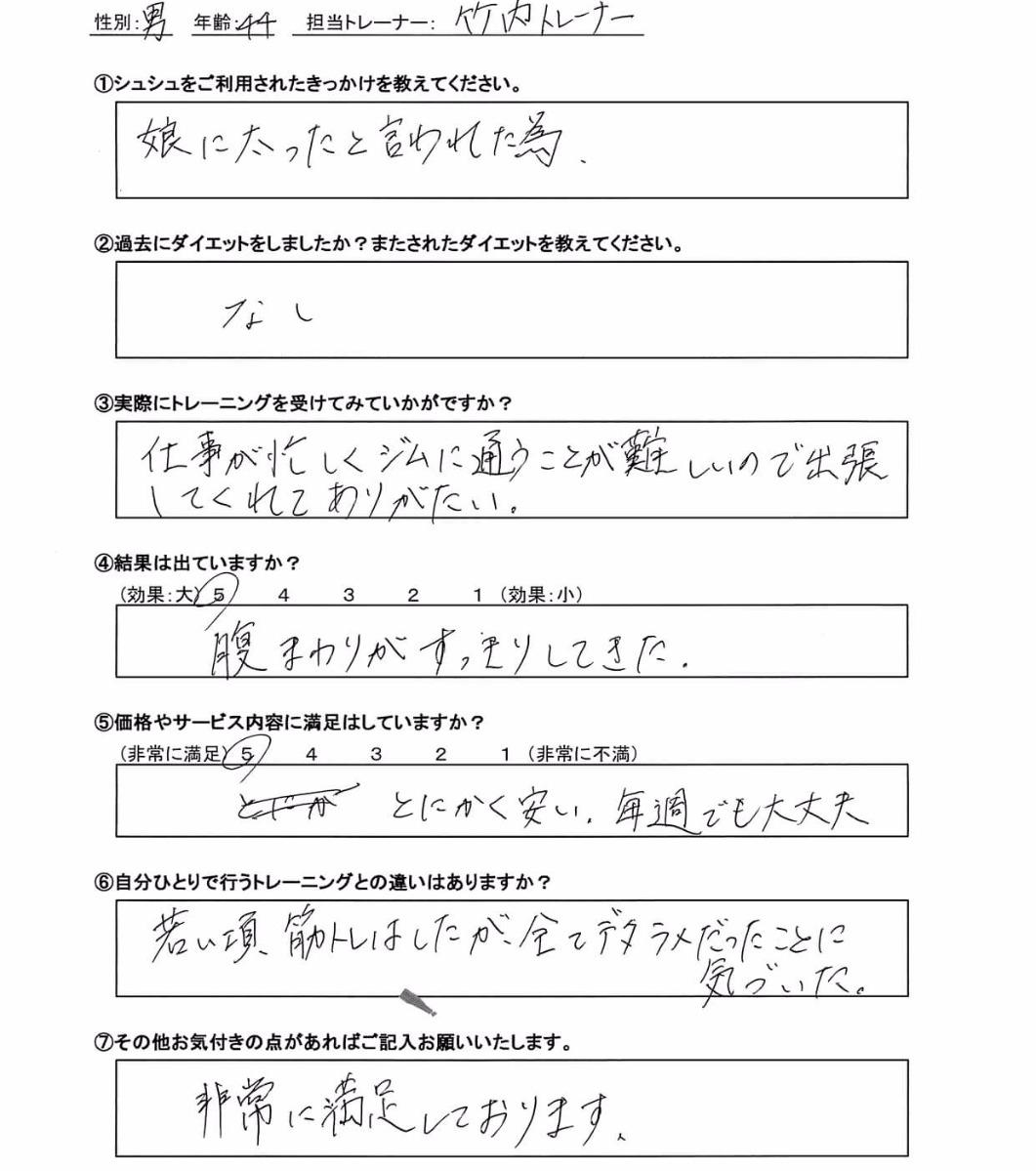 卜部加奈子様(仮名・43歳)