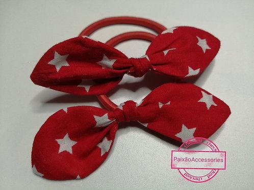 Xuxa lacinho vermelho com estrelas (o par)