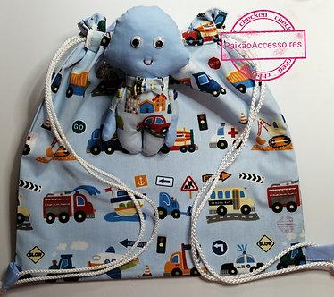 Mochila esportiva infantil - Blue baby 🚼 🚙
