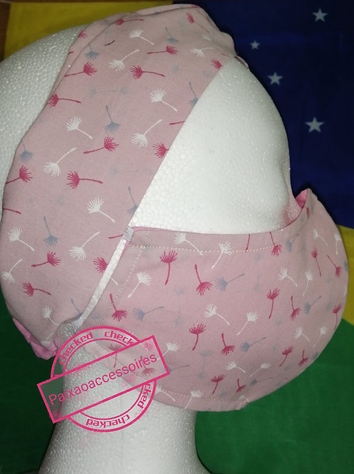 Kit (ADULTO) Flor ao vento - Tiara-turbante e máscara tapa-boca