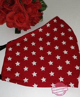 Vermelha estrelada - Máscara GG (ADULTO)