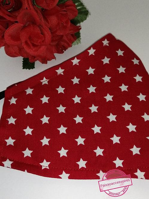 Vermelha estrelada - Máscara (ADULTO)