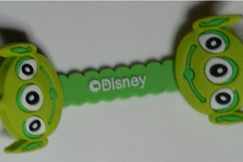 Prendedor  VERDE CLARO de cabo/fone de ouvido -  Disney 1