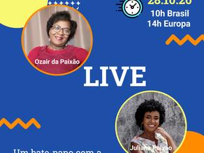 Salve a data 28 de outubro - Live com Juliana da Paixão