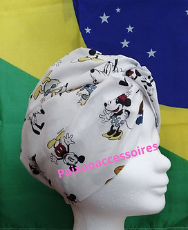 "Touca Turbante ""TURMA DO MICKEY"""
