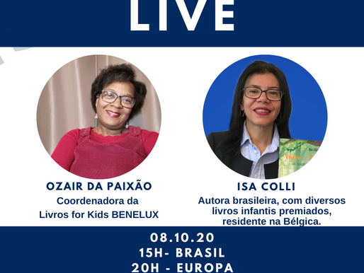 Salve a data 08 de outubro - Live com Isa Colli