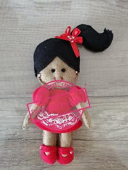 Boneca de feltro - vermelhomorango