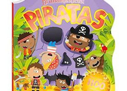 Livro - Piratas: Col. Adesivos brilhantásticos!