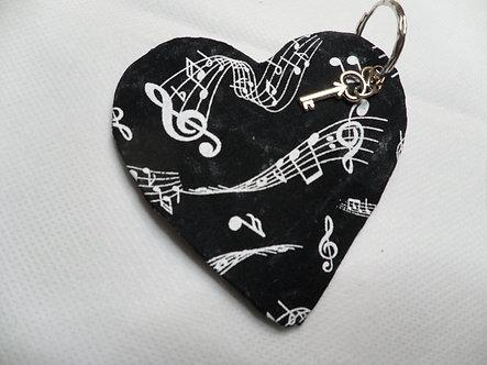 Chaveiro Acartonado - Coração Musical