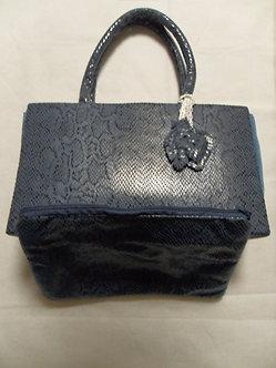 Kit Bolsa de mão e clutch Azul marinho - Courino