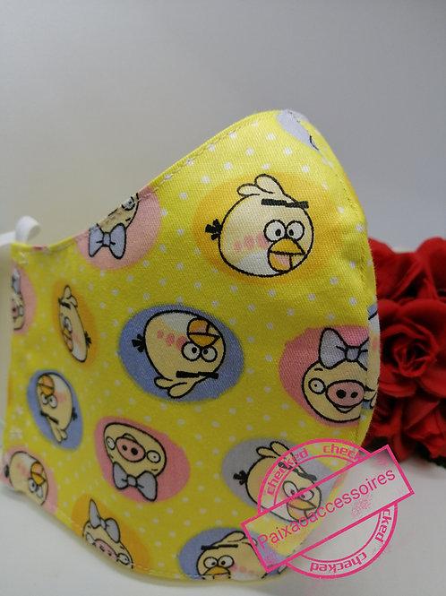 Pig & Birds - Máscara (7 - 12 anos) higiênica