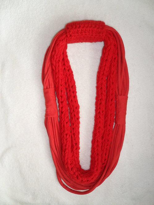 Cachecol colar - Vermelho (malha e lã)