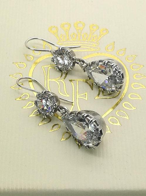 Sterling Silver Pear-Drop Earrings