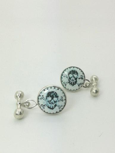 Skull & Crossbone Enamel Cufflinks