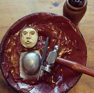Main in the Moon Locket Carving - Richard F Burns Jewellery