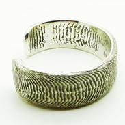 Cuttle bone sterling silver cuff - Richard F Burns Jewellery