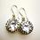 "Thumbnail: Sterling Silver French Paste Handmade 'Georgian style"" Earrings"