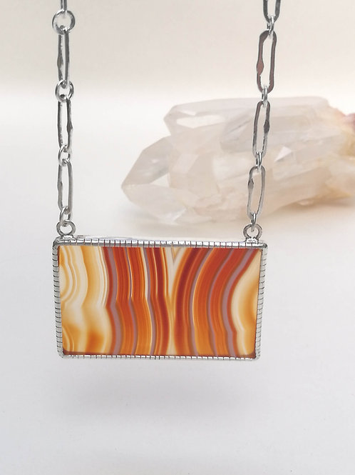 Sunset Banded Agate Necklace