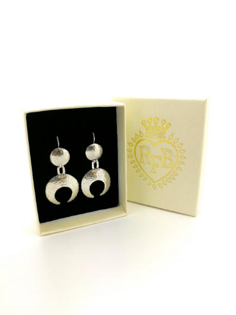 Sterling Silver Moon Goddess Earrings