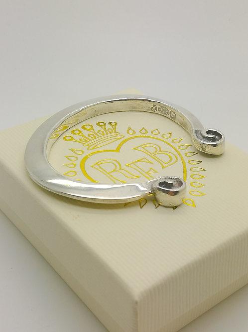 Sterling Silver Torque handmade Bracelet