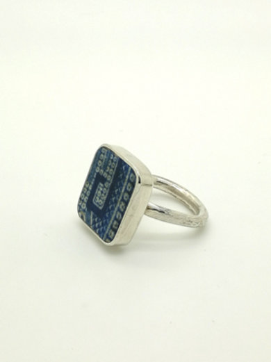 Sterling Silver China Fragment Ring