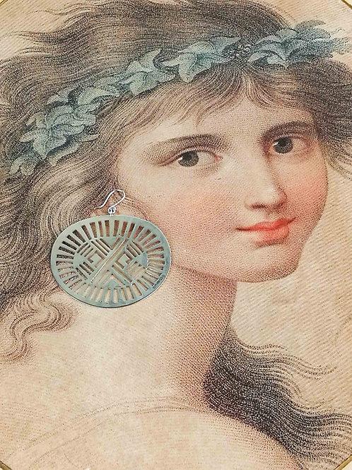 Sterling Silver Solar Disc Earrings