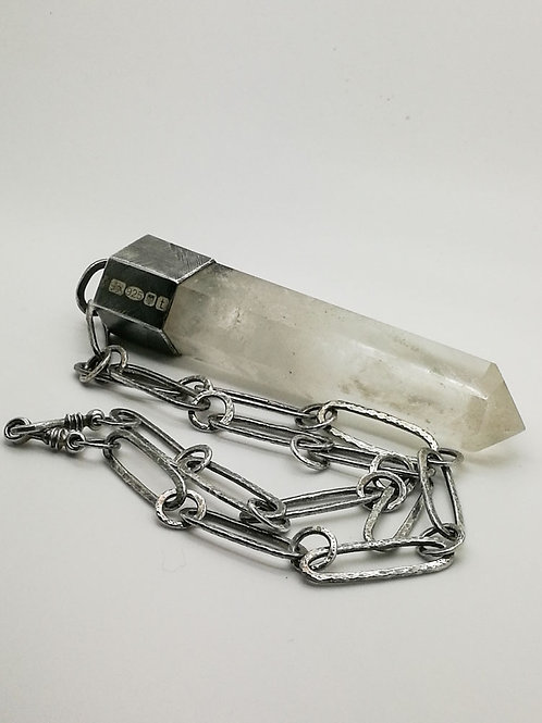 Soothsayer Quartz Crystal & Sterling Silver Pendant & Necklace