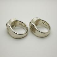 Sterling Silver Fox Rings - Richard F Burns Jewellery