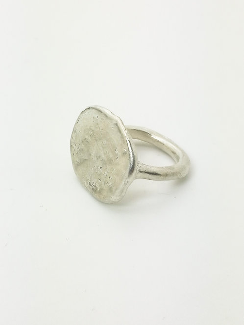 Sculpted Silver Signet Ring