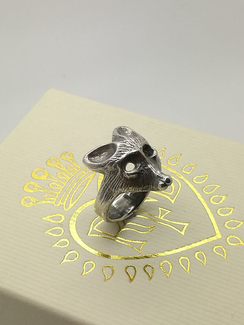 Sterling Silver Reynard the Fox Ring