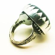 Sterling Silver Labradorite Tiger Ring - Richard F Burns Jewellery