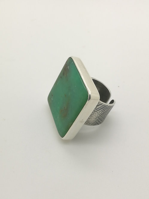 Chyrsophase Square Silver Ring
