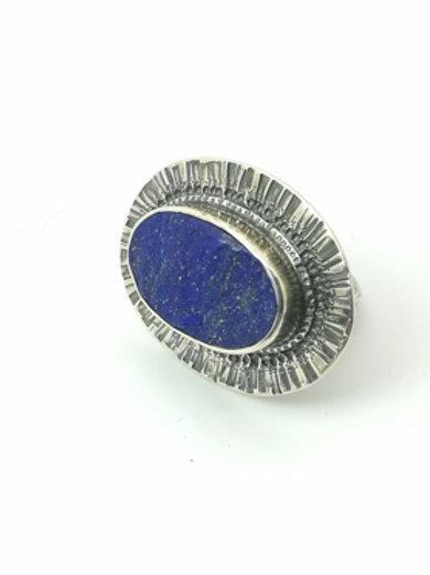 Sterling Silver Anemone Flower Ring