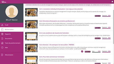 Formation entretien professionnel e-learning a distance en visio