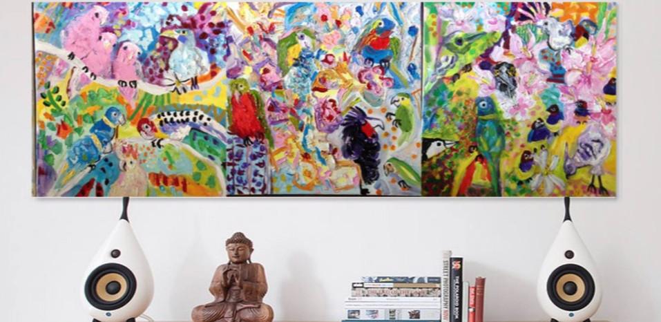 Bird Triptych (sold)