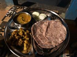 Dinner plate with Mandva roti